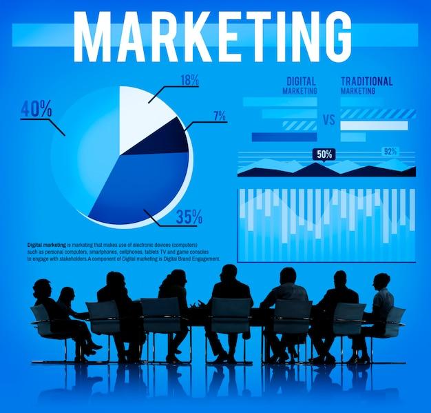 Premium Photo | Marketing branding strategy business ...