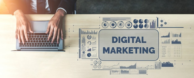 Marketing of digital technology business concept Premium Photo