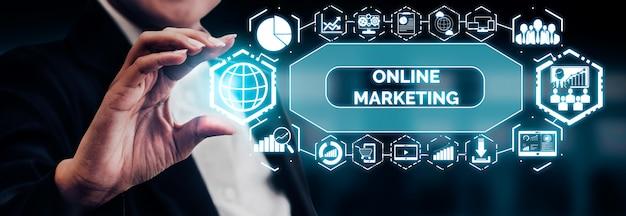 Marketing of digital technology business Premium Photo