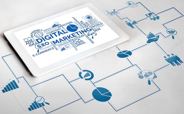 Marketing of digital technology Premium Photo