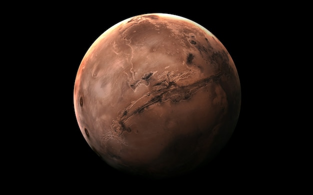 Mars in the space, 3d illustration. Premium Photo