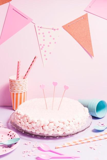Marshmallow cake Free Photo