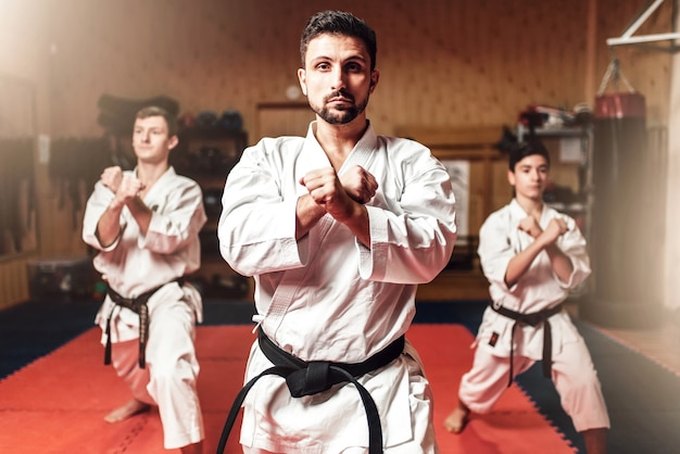 Martial arts fighters hone their skills Premium Photo
