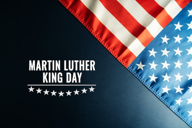 Martin luther king day anniversary - american flag abstract background Premium Photo