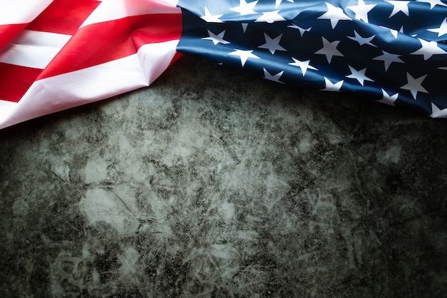 Martin luther king day anniversary - american flag on abstract background Premium Photo