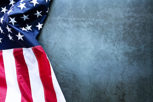 Martin luther king day anniversary american flag Premium Photo