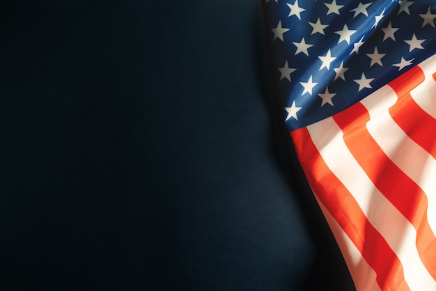 Martin luther king, jr. day anniversary - american flag Premium Photo