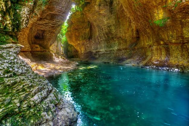 Martvili canyon in georgia Premium Photo