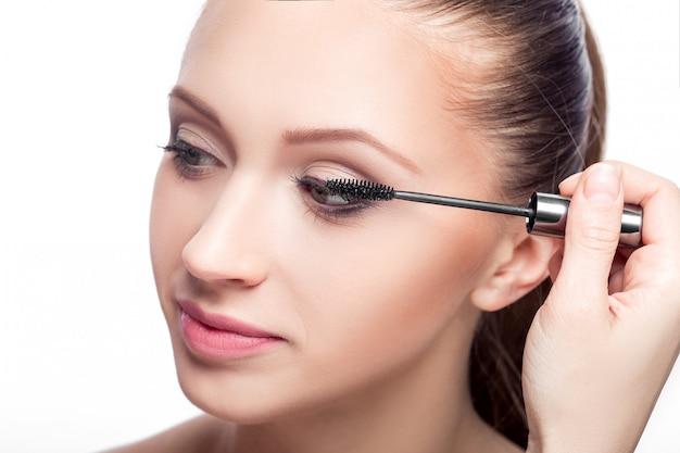 Mascara. eye makeup Premium Photo
