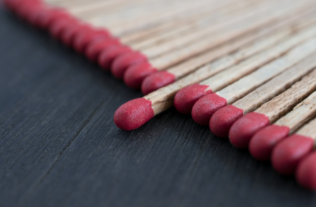 Match standing out from matches leadership concept, individuality concept. Premium Photo