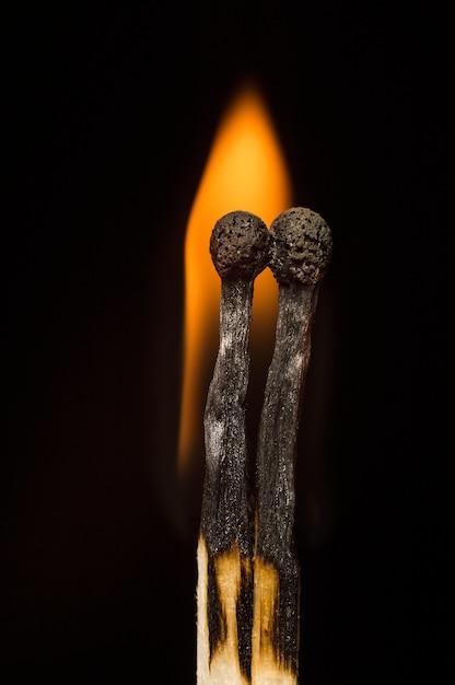 Matches on a black Premium Photo