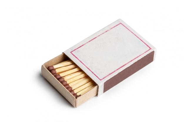 Matches isolated on white . closeup shot. Premium Photo