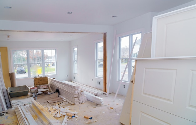 Material for under construction, remodeling and renovation Premium Photo