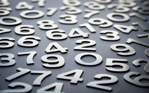 Mathematics background made with solid numbers Premium Photo