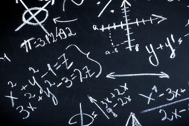 Maths on blackboard Premium Photo