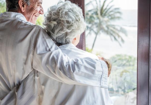 Mature couple vacationing at a resort Premium Photo