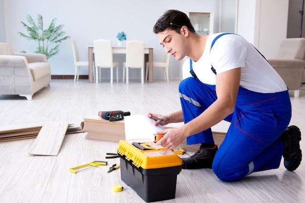 May laying laminate flooring at home Premium Photo