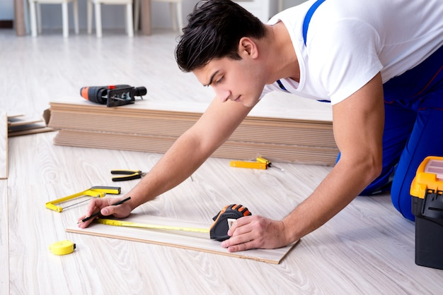 May laying laminate flooring at home Premium Photo