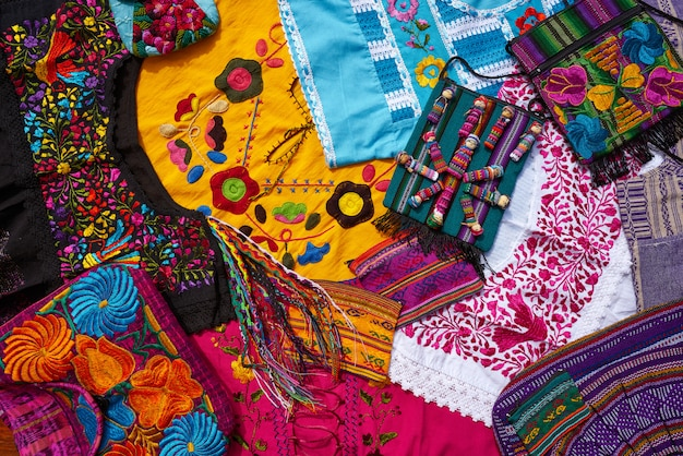 Mayan mexican handcrafts souvenirs mix Premium Photo