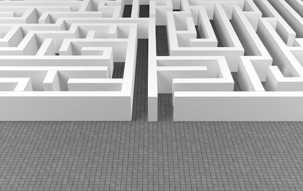 Maze background, complex problem solving concept Photo