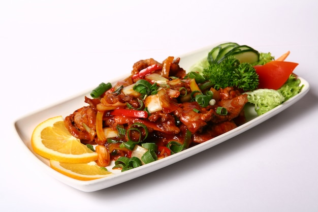 Meat dish with vegetables Free Photo