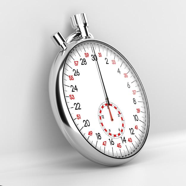 Mechanical stopwatch illustration. retro classic style clock. Premium Photo