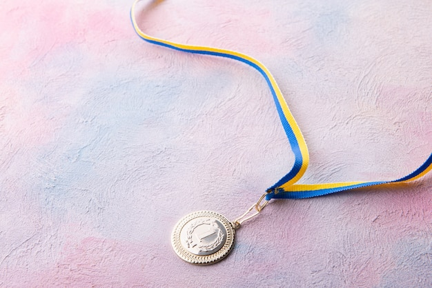 Medal for first place on the table Premium Photo