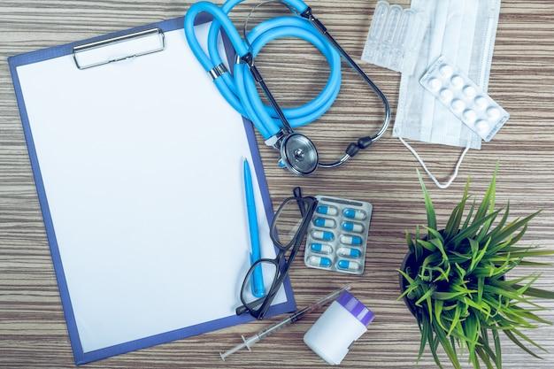 Medical equipment with copy space Premium Photo
