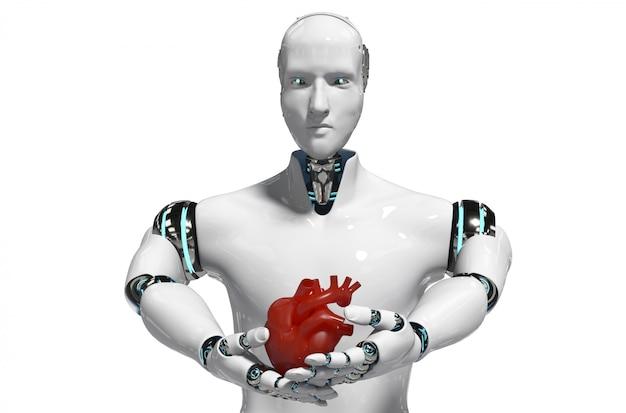 Medical robot concept robot for use medical white background 3d rendering Premium Photo