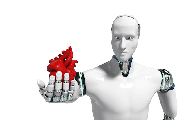 Medical robot concept robot for use medical white background 3d rendering Premium Photo