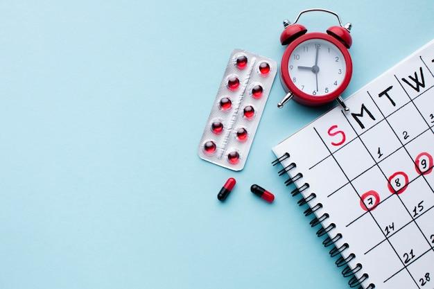 Календарь медицинского лечения плоской планировки Бесплатные Фотографии
