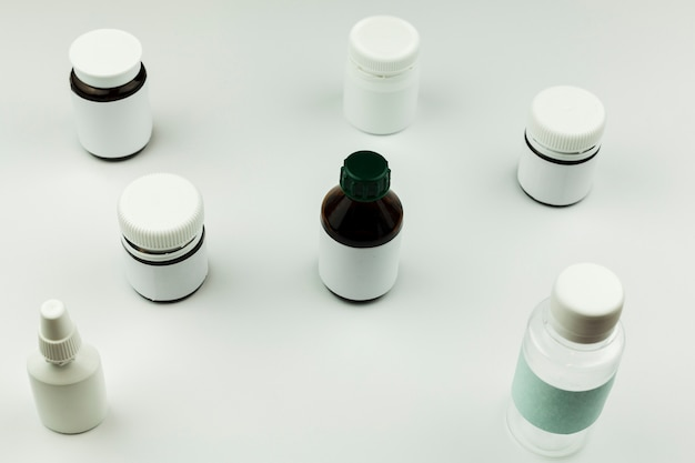 Medical treatment with pills Free Photo