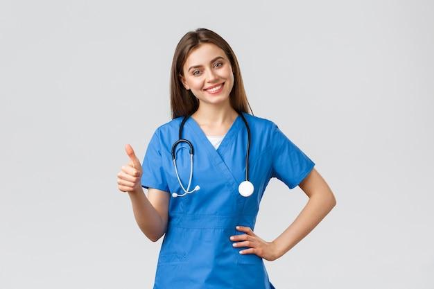 Медицинские работники, здравоохранение, covid-19 и концепция вакцинации. Premium Фотографии