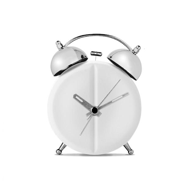 医学の概念。白い壁に時計型の医療タブレット Premium写真