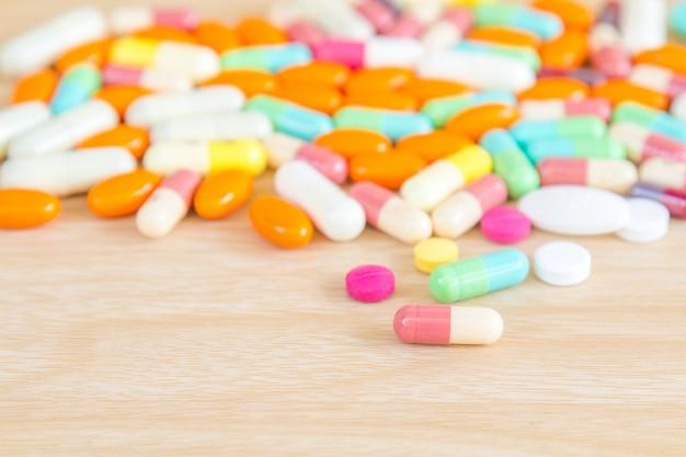 Medicine pill and capsule Free Photo