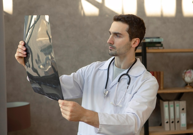 Medium shot healthcare professional at work Free Photo