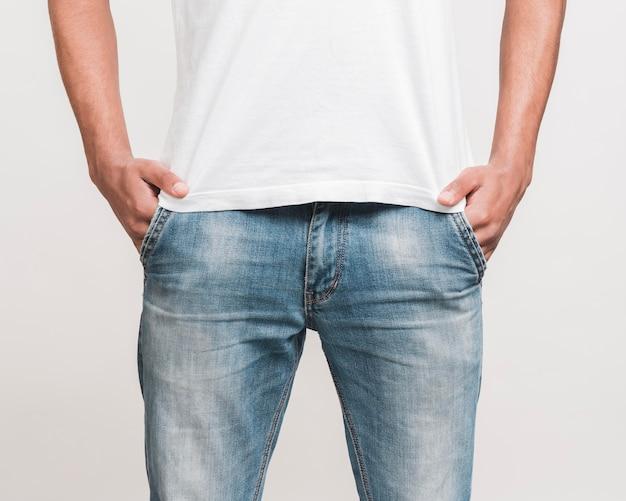 Мужчина среднего роста в повседневной одежде Бесплатные Фотографии