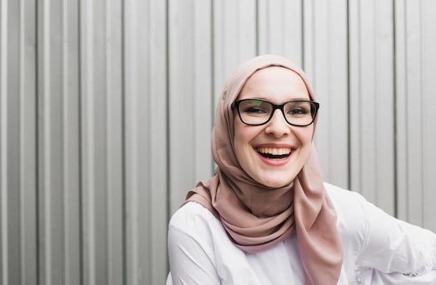 Medium shot of smiling woman Free Photo