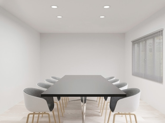 Meeting room with chairs Premium Photo
