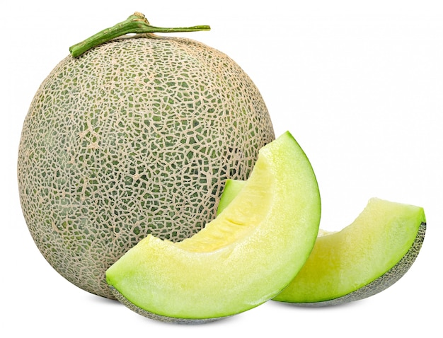 Melon isolated on white with clipping path Premium Photo