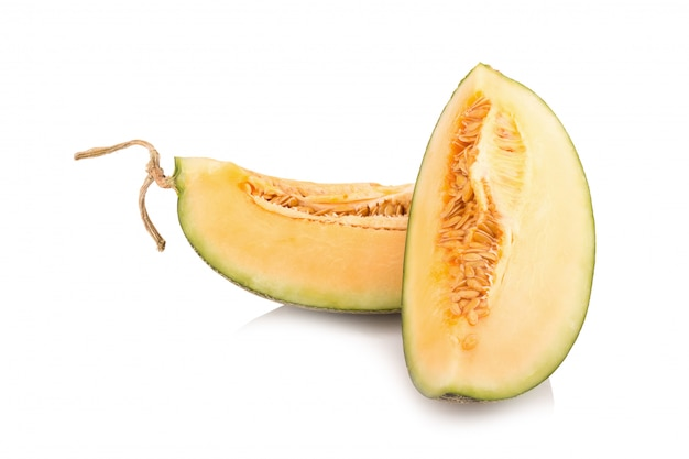 Melon isolated on white Premium Photo