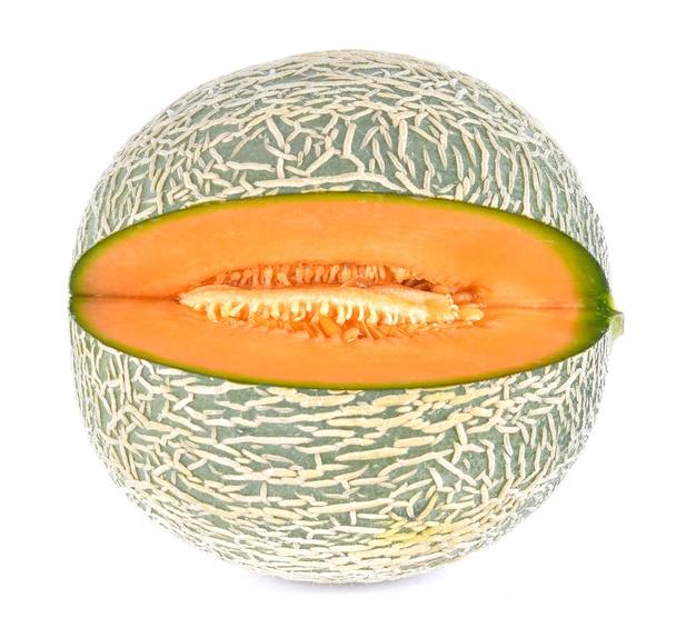 Melon on a white surface Premium Photo