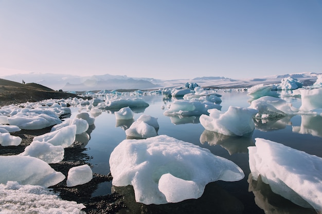 The melted glacier in iceland Premium Photo