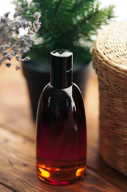 Men perfume. bottle spray Premium Photo