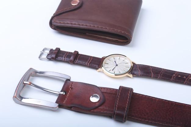 Men's accessories for business Premium Photo