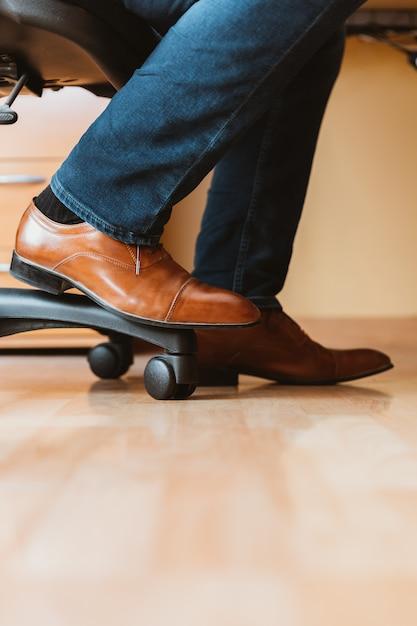 Men's brown shoes Premium Photo
