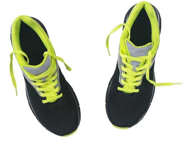 Men's shoes for jogging isolated on white background. Premium Photo