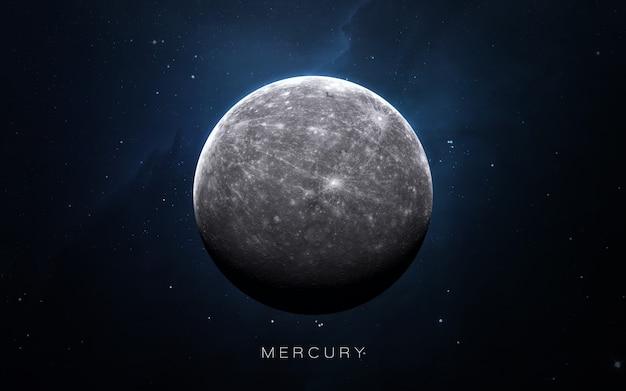 Mercury in the space, 3d illustration. . Premium Photo