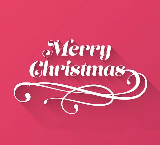 merry christmas cursive message vector premium photo