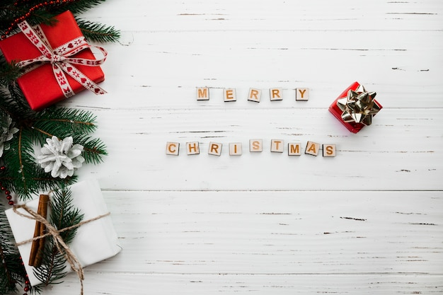 merry christmas lettering of wooden blocks free photo - Merry Christmas Decorative Blocks